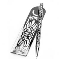 Pen & Bookmark Celtic Birds Design (1)